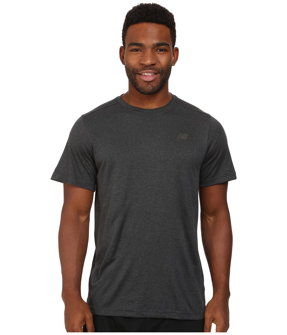 New Balance - S/S Heather Tech Tee (Heather Charcoal) Men's Short Sleeve Pullover