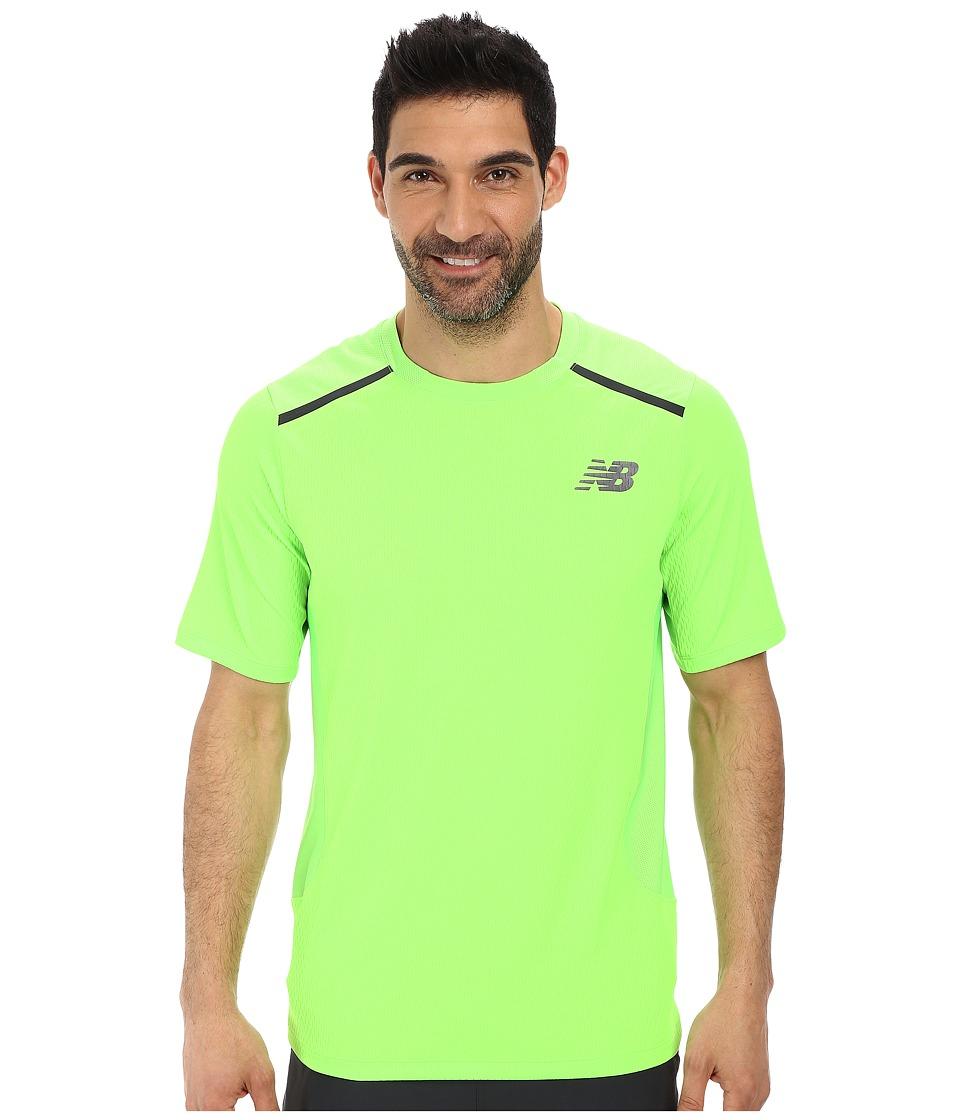 New Balance - Tournament Crew (Chemical Green) Men's Short Sleeve Pullover