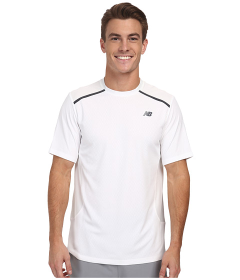 New Balance - Tournament Crew (White) Men's Short Sleeve Pullover