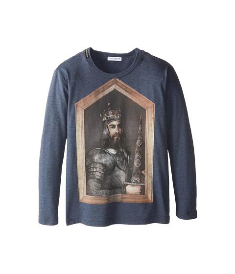 Dolce & Gabbana - Long Sleeve Graphic T-Shirt (Little Kids) (Multi) Men