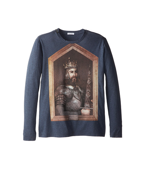 Dolce & Gabbana - Long Sleeve Graphic T-Shirt (Big Kids) (Multi) Men
