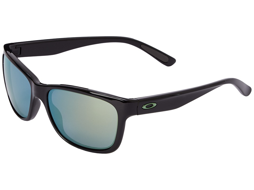 Oakley - Forehand (Emerald Iridium w/ Polished Black) Sport Sunglasses
