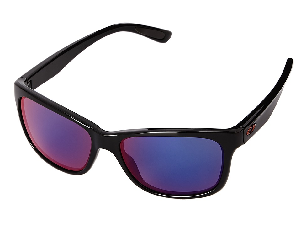 Oakley - Forehand (+ Red Iridium w/ Polished Black) Sport Sunglasses
