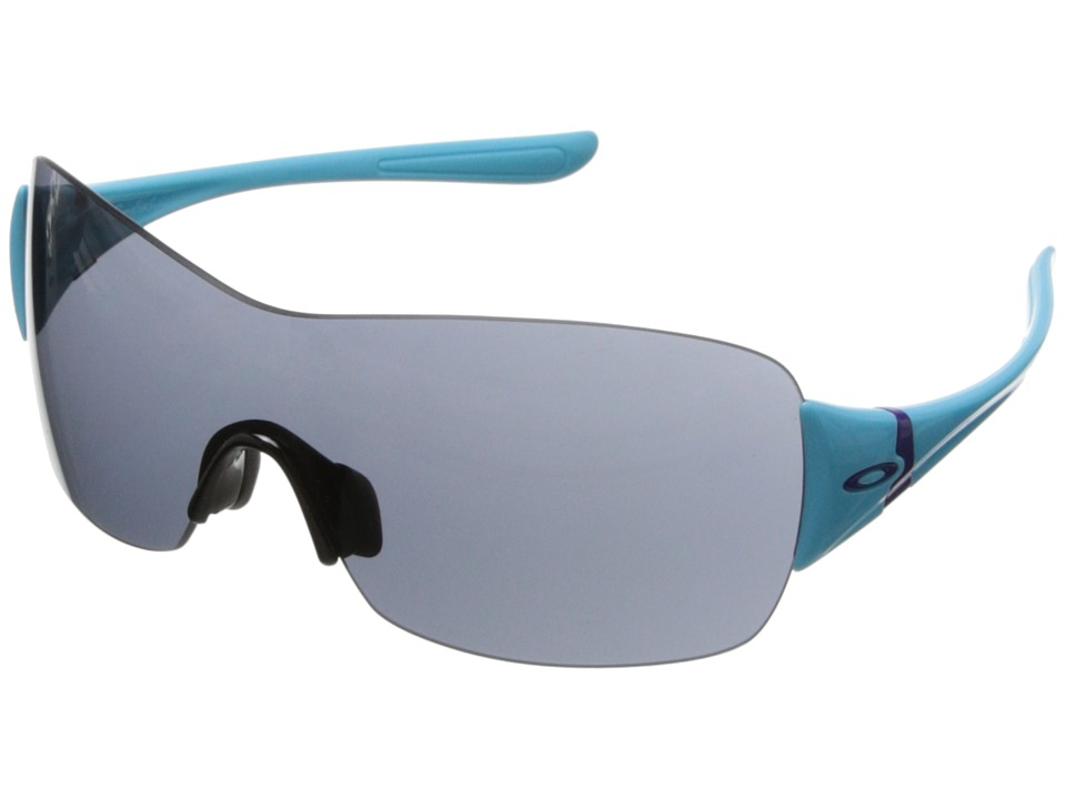 Oakley - Miss Conduct (Grey w/ Illumination Blue) Sport Sunglasses