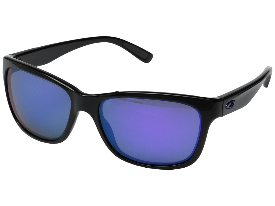 Oakley - Forehand (Violet Iridium w/ Polished Black) Sport Sunglasses