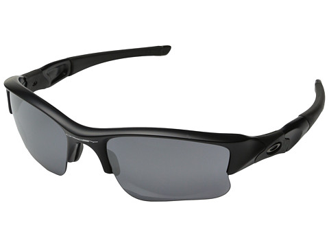 Oakley - Flak Jacket XLJ (Black Iridium w/ Matte Black) Sport Sunglasses