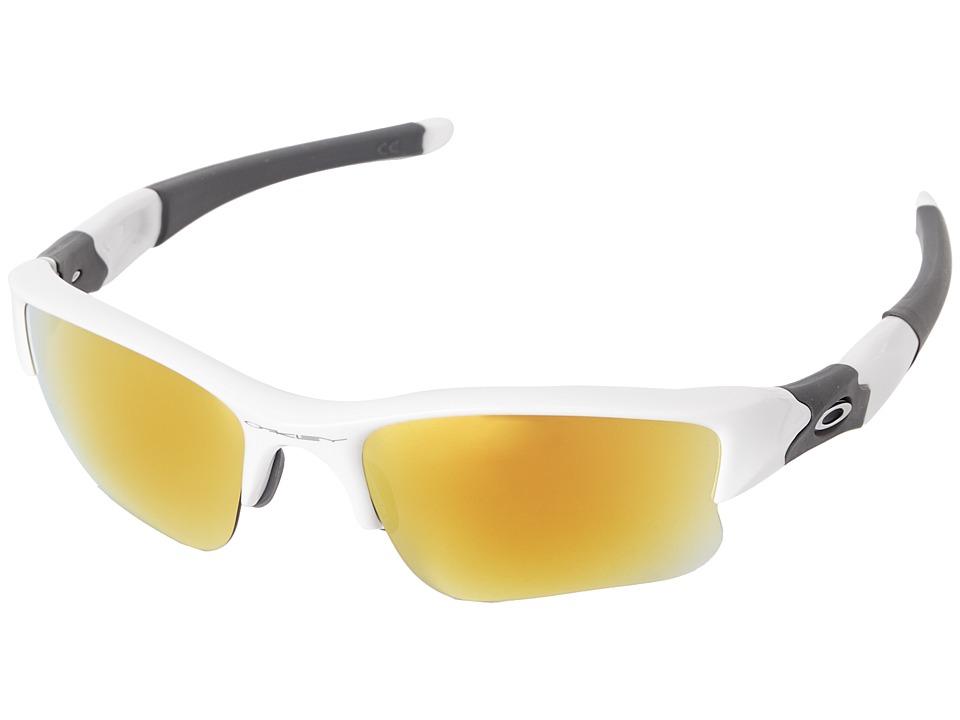 Oakley - Flak Jacket XLJ (Fire Iridium w/ Polished White) Sport Sunglasses