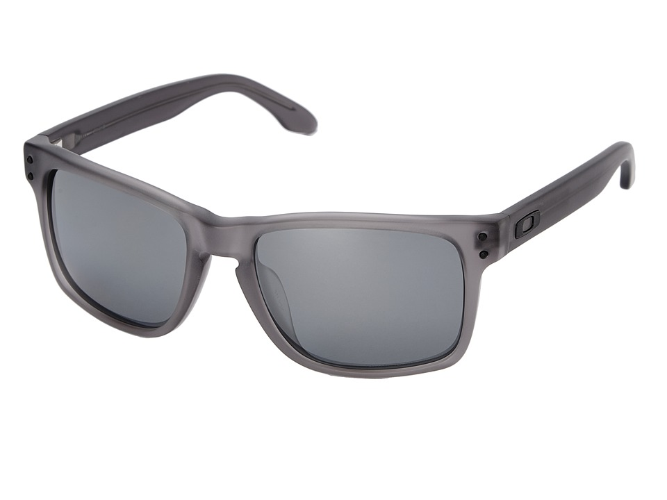 Oakley - Holbrook (Black Iridium Polarized w/ Satin Smoke) Sport Sunglasses