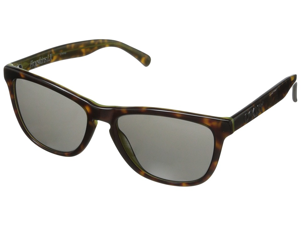Oakley - Frogskins LX (Dark Grey w/ Tortoise/Green) Fashion Sunglasses