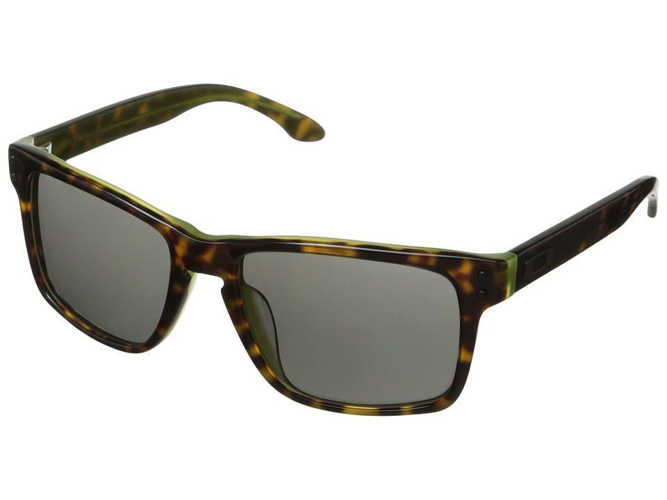 Oakley - Holbrook (Dark Grey w/ Green Tortoise) Sport Sunglasses