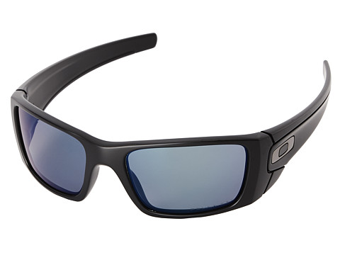 Oakley - Fuel Cell (Deep Blue Iridium Polarized w/ Polished Black) Polarized Sport Sunglasses
