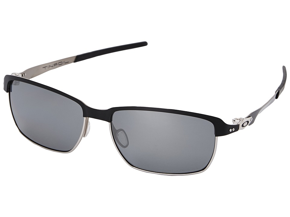 Oakley - Tinfoil (Black Iridium Polarized w/ Polished Black) Fashion Sunglasses