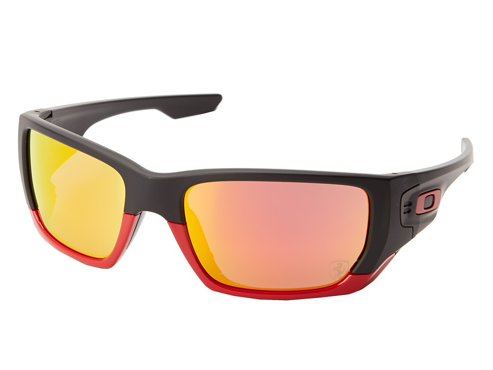 Oakley - Style Switch (Ruby Iridium w/ Matte Black) Plastic Frame Sport Sunglasses