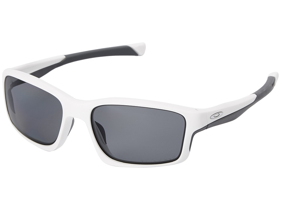Oakley - Chainlink (Grey Polarized w/ Matte White) Fashion Sunglasses