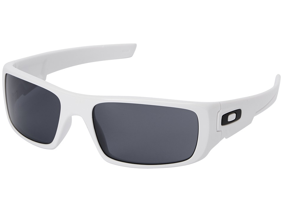 Oakley - Crankshaft (Grey w/ Polished White) Fashion Sunglasses