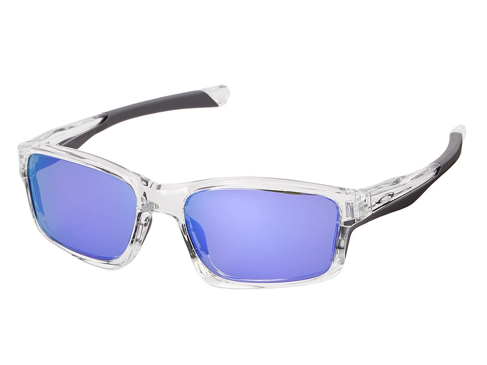 Oakley - Chainlink (Violet Iridium w/ Polished Clear) Fashion Sunglasses