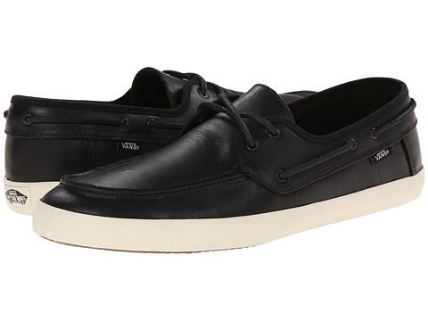Vans - Chauffeur ((Leather) Black/Black) Men