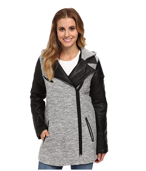 Hurley - Long Moto Jacket (Heather White) Women