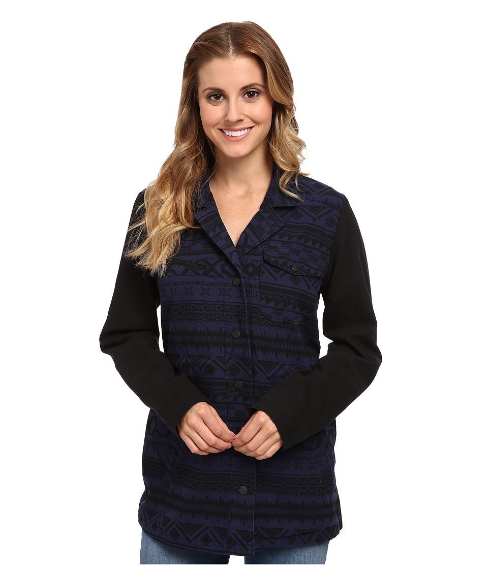 Hurley - Military Long Jacket (Midnight Navy Shapes) Women