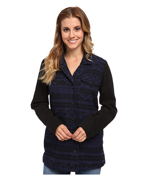 Hurley - Military Long Jacket (Midnight Navy Shapes) Women