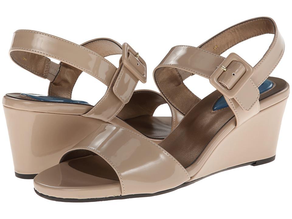 Fitzwell - Maria (Ecru Ferns Patent) Women's Dress Sandals