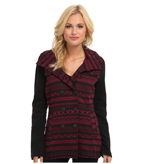 Hurley - Winchester Fleece Jacket (Deep Garnet Shapes) Women