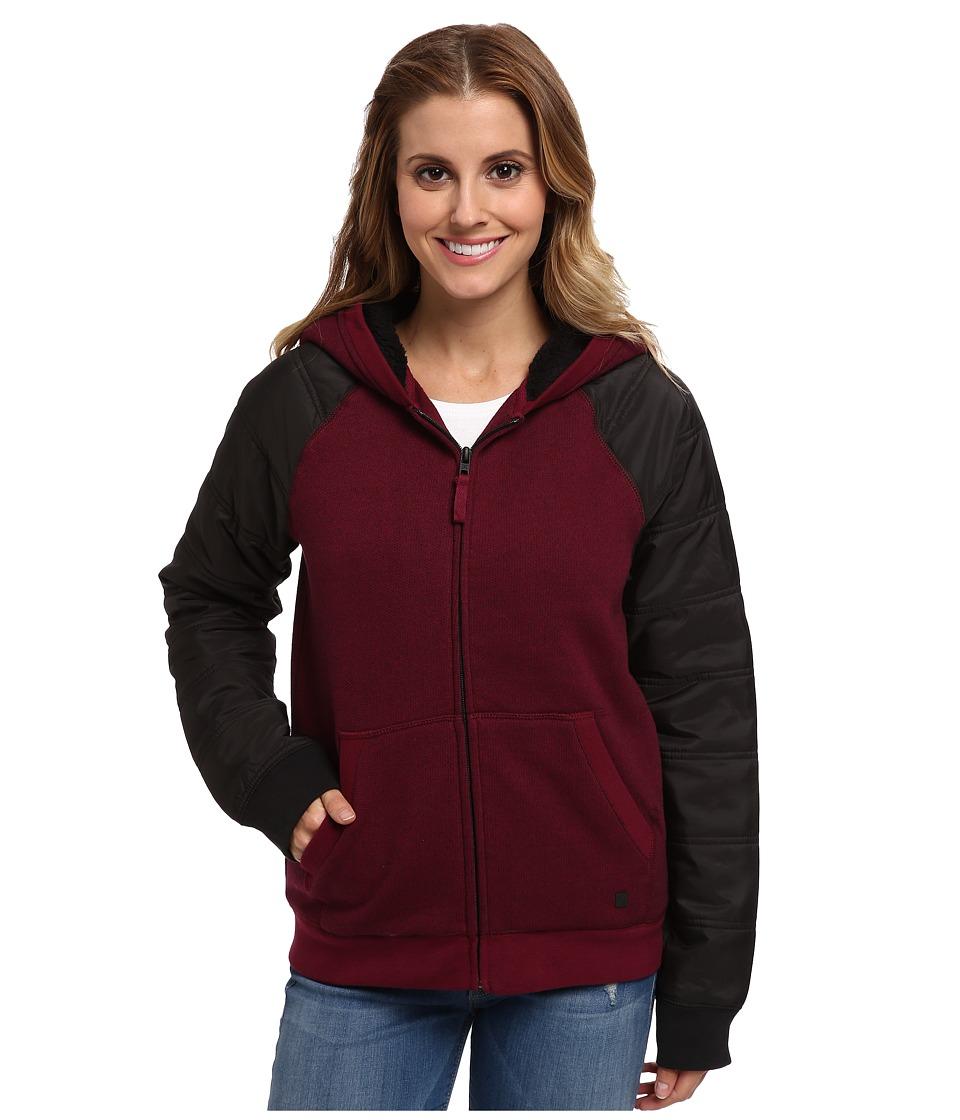 Hurley - Max Sherpa Jacket (Deep Garnet) Women's Jacket
