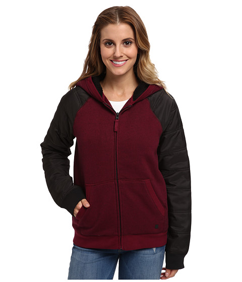Hurley - Max Sherpa Jacket (Deep Garnet) Women