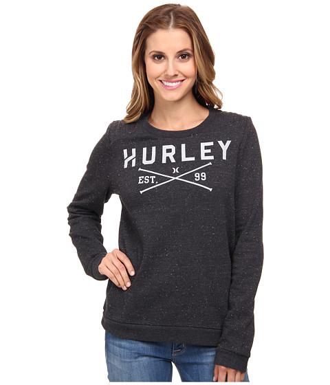 Hurley - Fletcher Fleece Crew (Black) Women's Sweatshirt