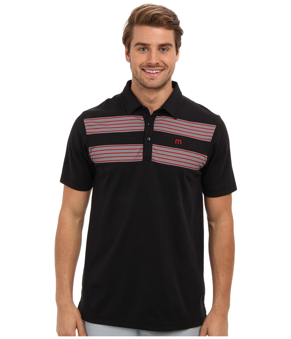 TravisMathew - Justin Polo (Black) Men's Short Sleeve Pullover