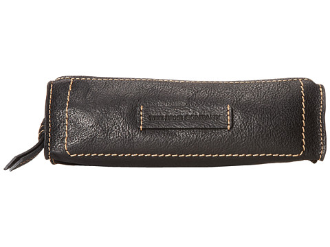 Frye - Artisan Pen Case (Black Hammered Full Grain) Handbags
