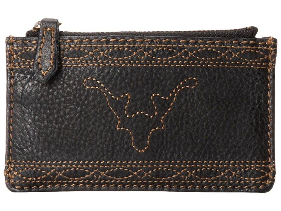 Frye - Campus Stitch Card Case (Black Dakota) Credit card Wallet