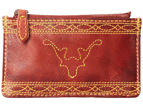 Frye - Campus Stitch Card Case (Brunt Red Dakota) Credit card Wallet