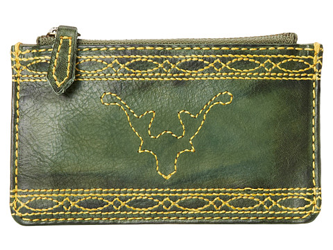 Frye - Campus Stitch Card Case (Olive Dakota) Credit card Wallet