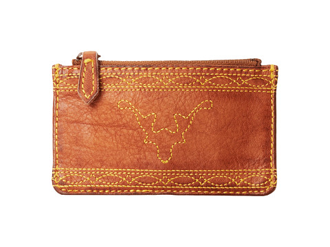 Frye - Campus Stitch Card Case (Saddle Dakota) Credit card Wallet