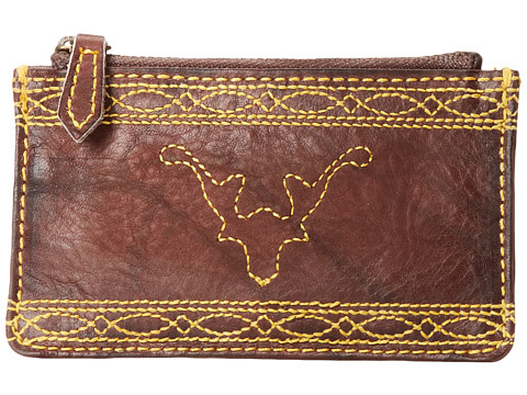 Frye - Campus Stitch Card Case (Walnut Dakota) Credit card Wallet