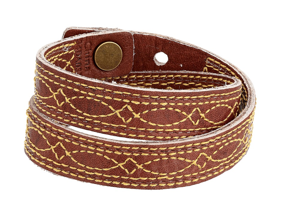 Frye - Campus Stitch Cuff (Burnt Red Dakota) Bracelet