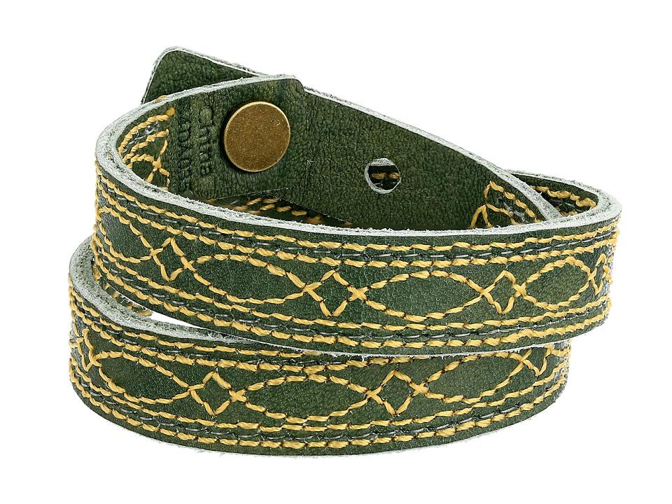 Frye - Campus Stitch Cuff (Olive Dakota) Bracelet