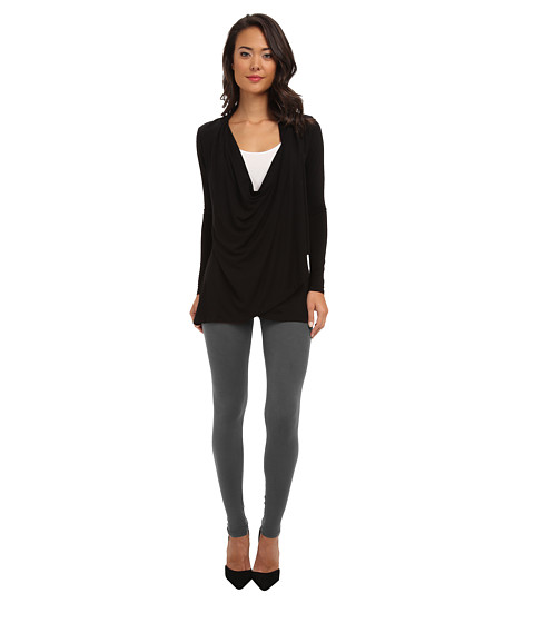 Lysse - Drape Wrap (Black) Women's Sweater
