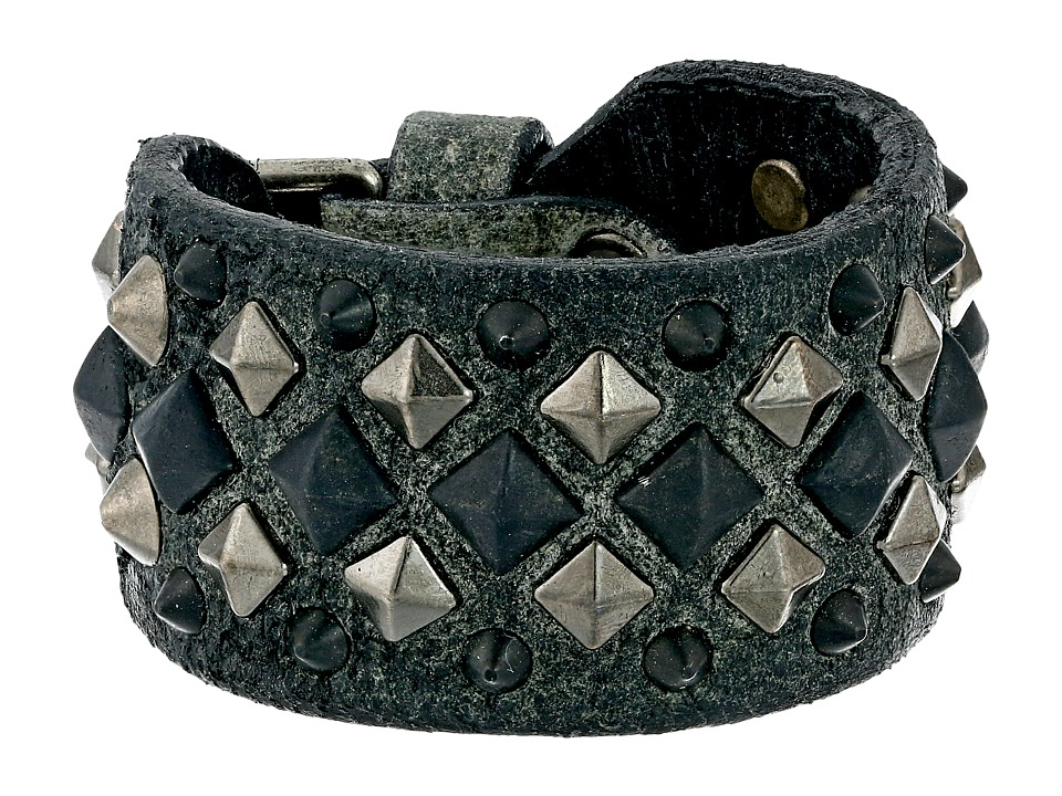 Frye - Deborah Deco Cuff (Charcoal Glazed Vintage Leather) Bracelet