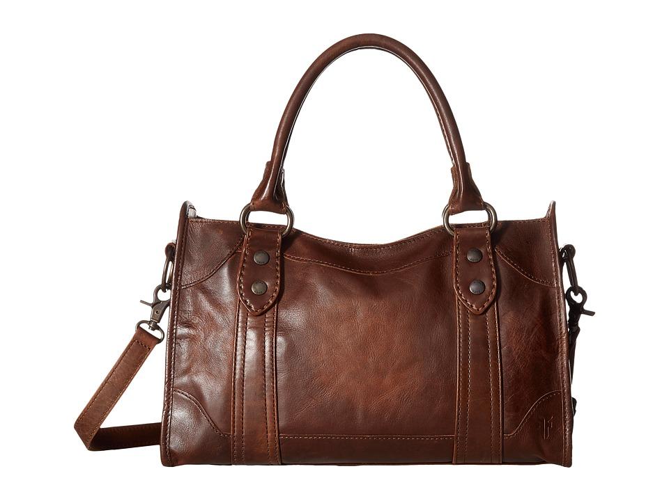 Frye - Melissa Satchel (Dark Brown Antique Pull Up) Satchel Handbags