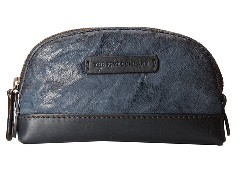 Frye - Michelle Makeup Bag (Blue Antique Soft Vintage) Cosmetic Case