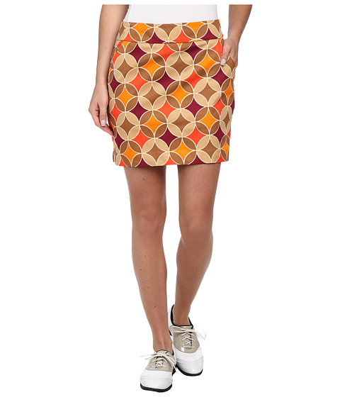 Loudmouth Golf - Havercamps Skort (Brown/Orange/Khaki) Women