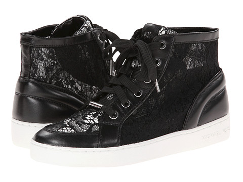 MICHAEL Michael Kors - Philippa High Top (Black Lace/Nappa) Women's Lace up casual Shoes
