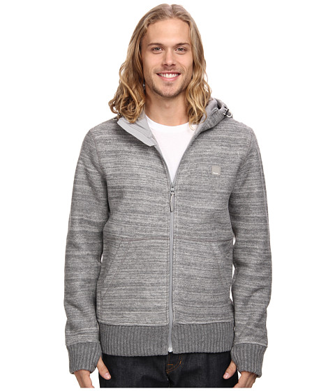 Bench - Wined Zip Thru Hoodie (Stormcloud Marl) Men's Sweatshirt