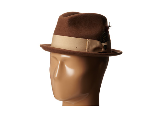 Brixton - Gain Fedora (Toffee) Traditional Hats