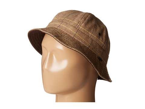 Brixton - Banks Bucket Hat (Reversible) (Tan/Brown) Bucket Caps