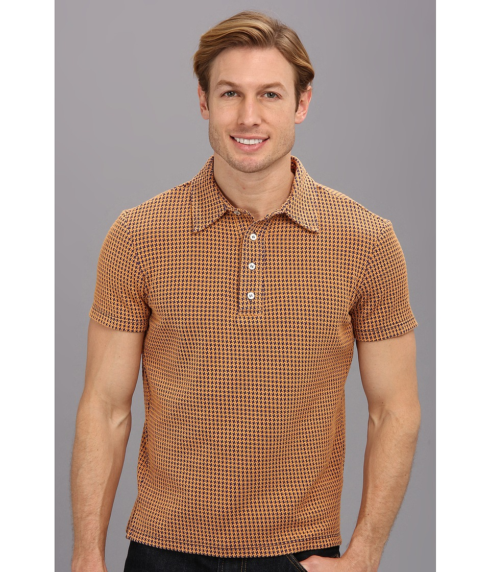 Mr.Turk - Lance Polo Shirt in Tangerine (Tangerine) Men's Short Sleeve Pullover