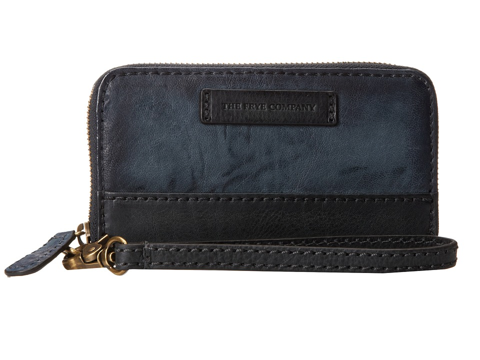 Frye - Michelle Phone Wallet (Blue Antique Soft Vintage) Wallet Handbags