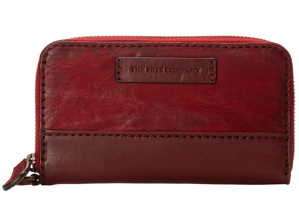 Frye - Michelle Phone Wallet (Burnt Red Antique Soft Vintage) Wallet Handbags